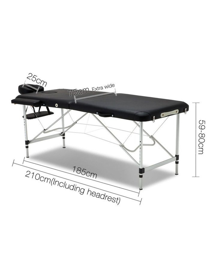 Livemor 2 Fold Portable Aluminium Massage Table image 2