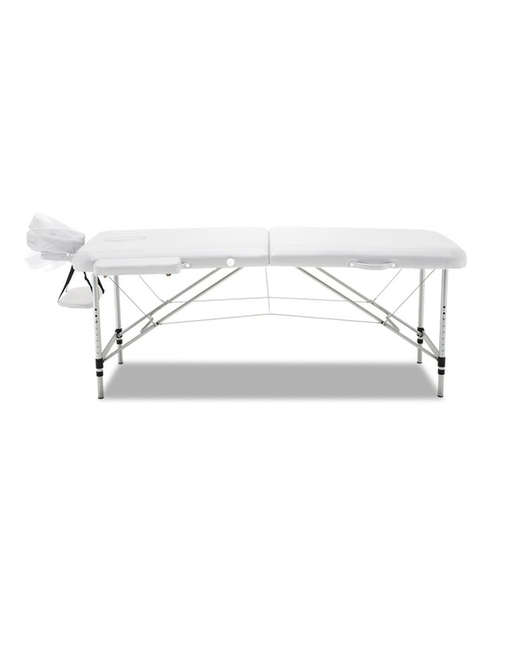 Zenses 75cm Portable Aluminium Massage Table Two Fold Treatment Beauty Therapy White image 3