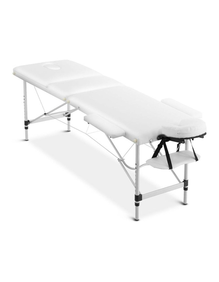 3 Fold Portable Aluminium Massage Table - White image 3
