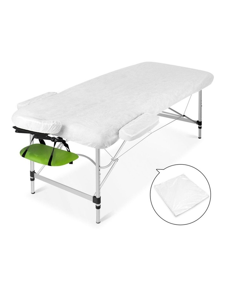 3 Fold Portable Aluminium Massage Table - Green & Black image 5