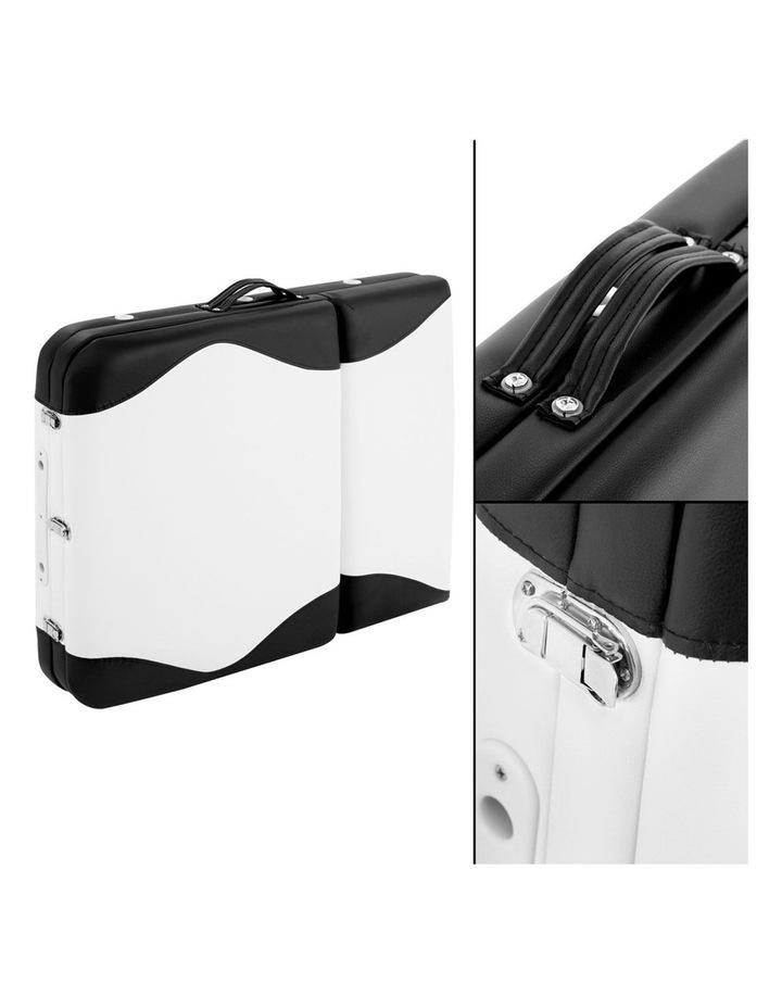 3 Fold Portable Aluminium Massage Table - Black & White image 4