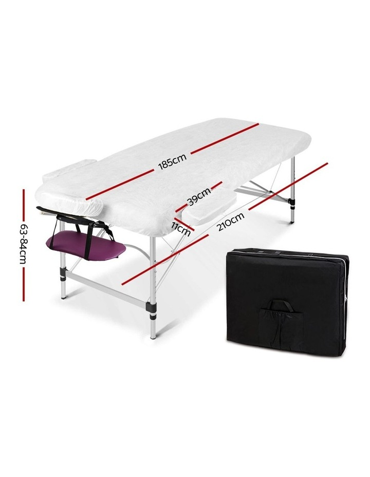 Zenses 3 Fold Portable Aluminium Massage Table Massage Bed Beauty Therapy Purple 75cm image 2