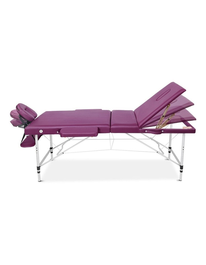 Zenses 3 Fold Portable Aluminium Massage Table Massage Bed Beauty Therapy Purple 75cm image 3