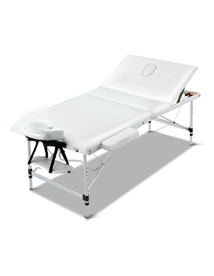 Zenses 80CM Portable 3 Fold Aluminium Massage Table Therapy Beauty Waxing Bed image 1