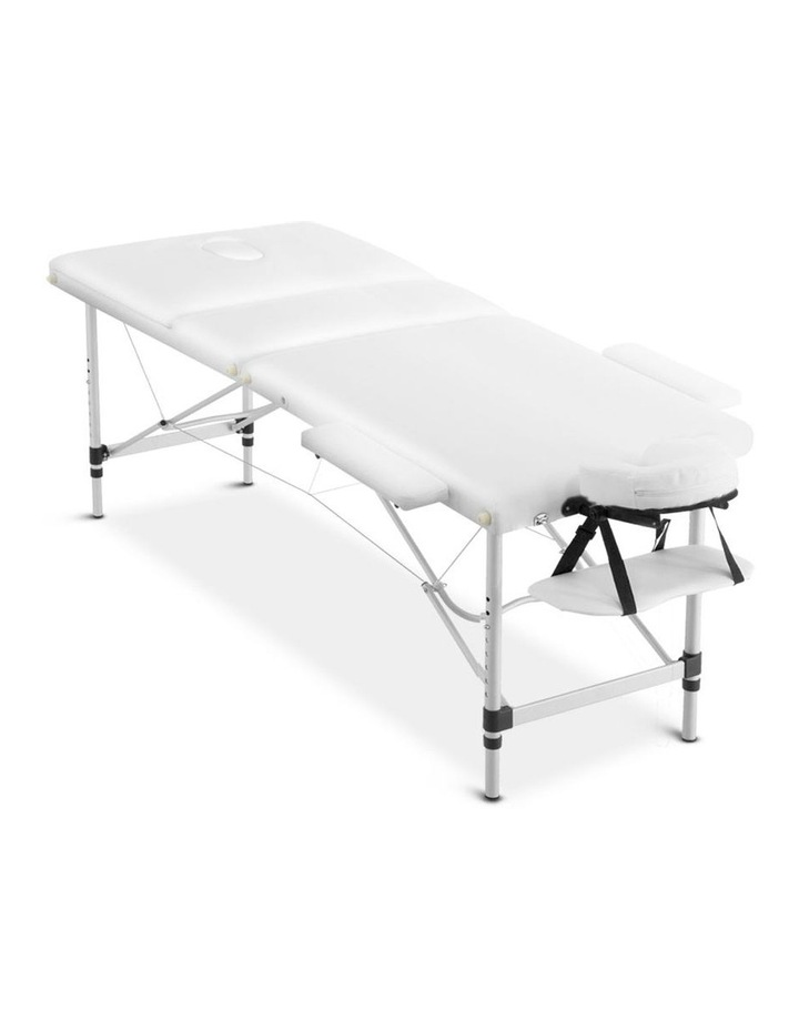 3 Fold Portable Aluminium Massage Table - White image 3