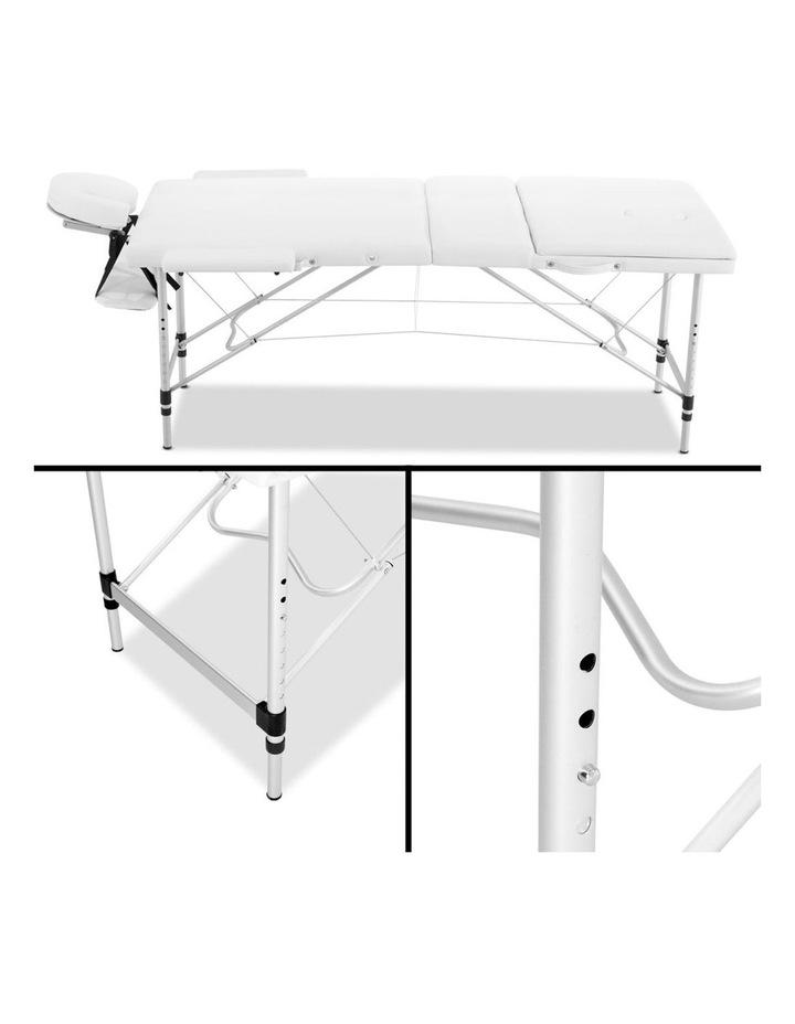 3 Fold Portable Aluminium Massage Table - White image 4
