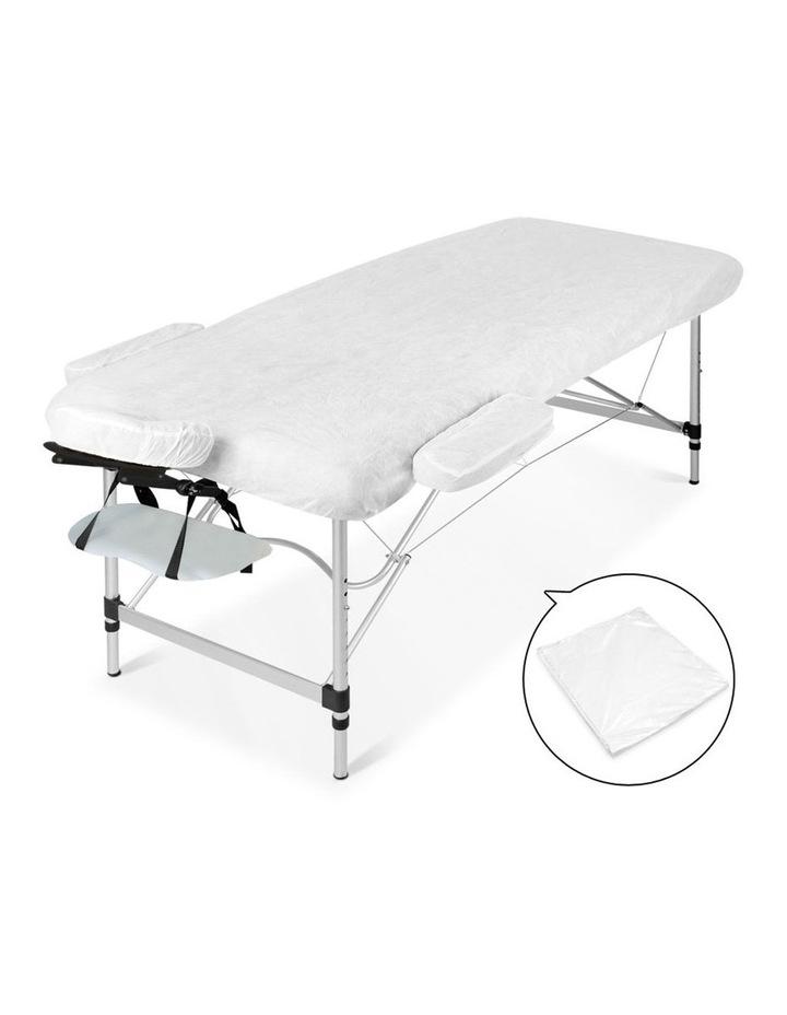 3 Fold Portable Aluminium Massage Table - White image 5