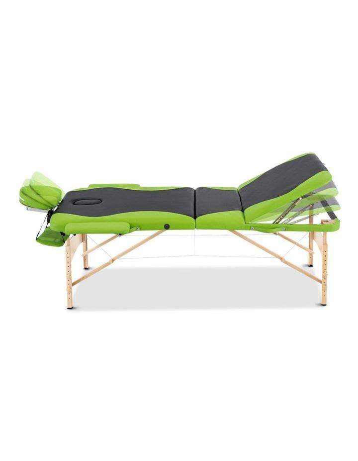 3 Fold Portable Wood Massage Table - Black & Lime image 5