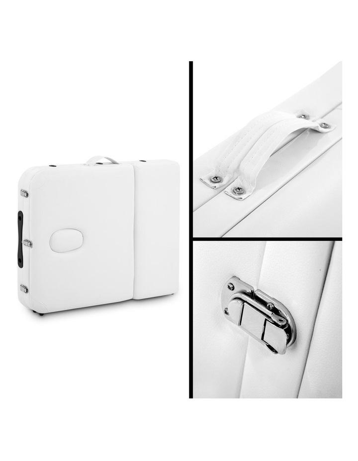 3 Fold Portable Wood Massage Table - White image 4