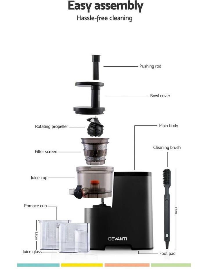 Cold Press Slow Juicer - Black image 3