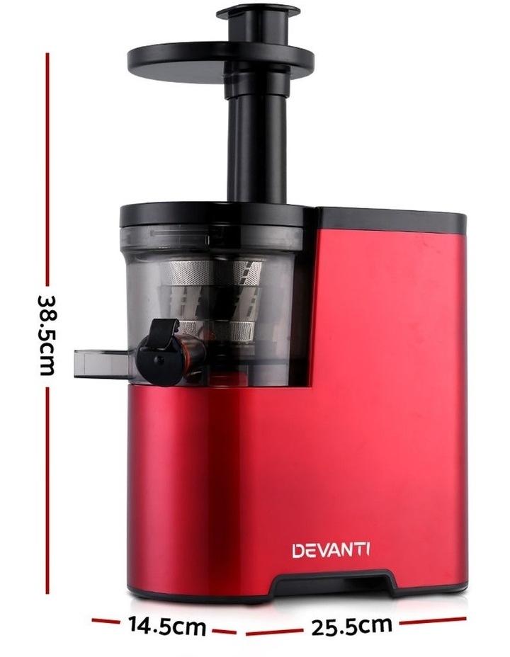 Cold Press Slow Juicer - Red image 2