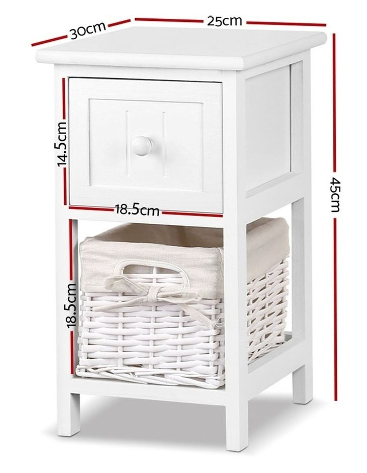 Set of 2 Claire Bedside Table image 2