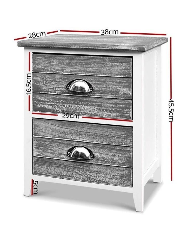 2x Bedside Table Nightstands image 2
