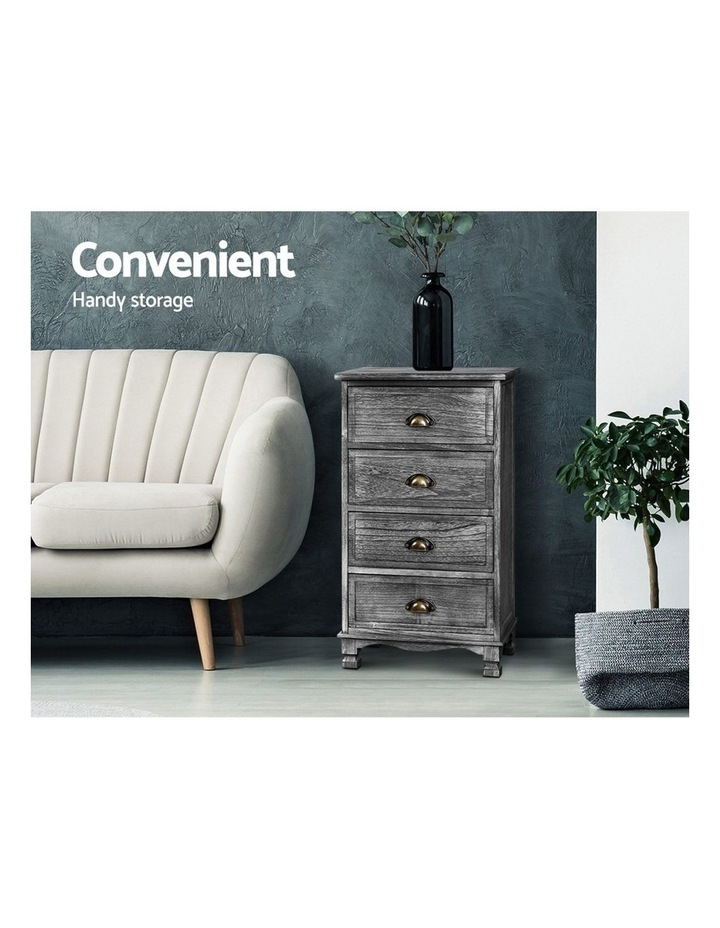 Bedside Tables Drawers Cabinet Vintage 4 Chest of Drawers image 3