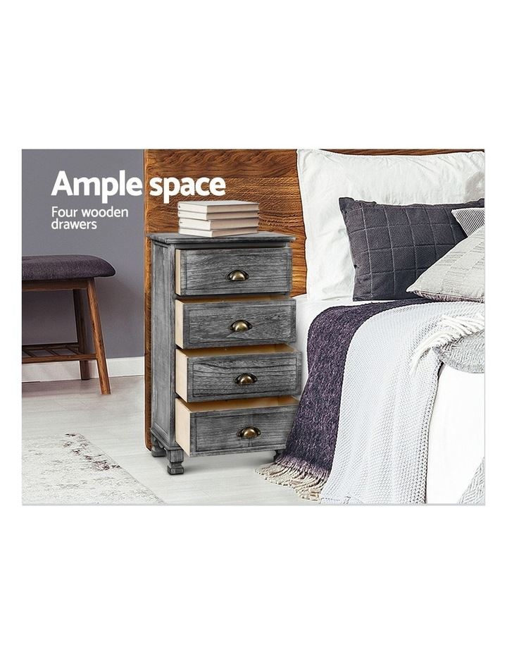 Bedside Tables Drawers Cabinet Vintage 4 Chest of Drawers image 4