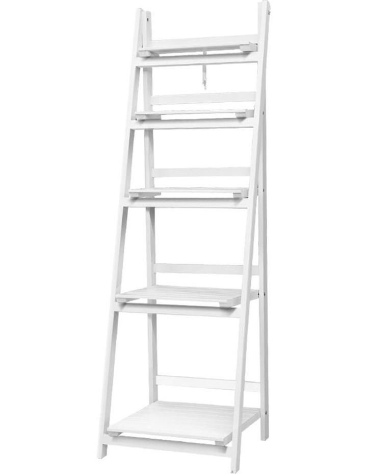 Display Shelf 5 Tier Wooden Ladder Stand image 1