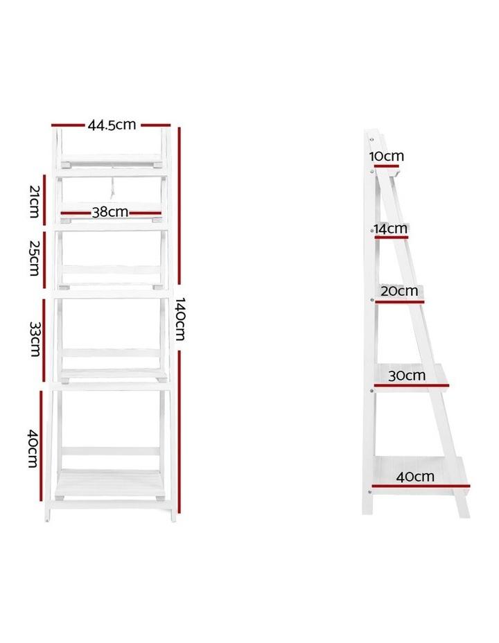 Display Shelf 5 Tier Wooden Ladder Stand image 2