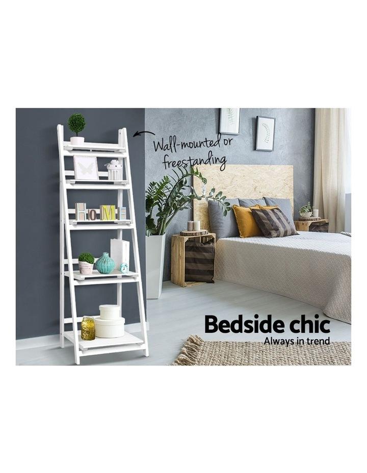 Display Shelf 5 Tier Wooden Ladder Stand image 4