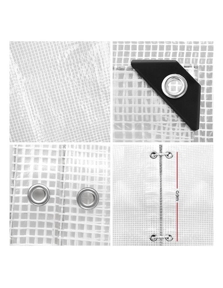3x4m Heavy Duty Poly Tarps Tarpaulin Camping Cover UV Proof PE Clear image 3