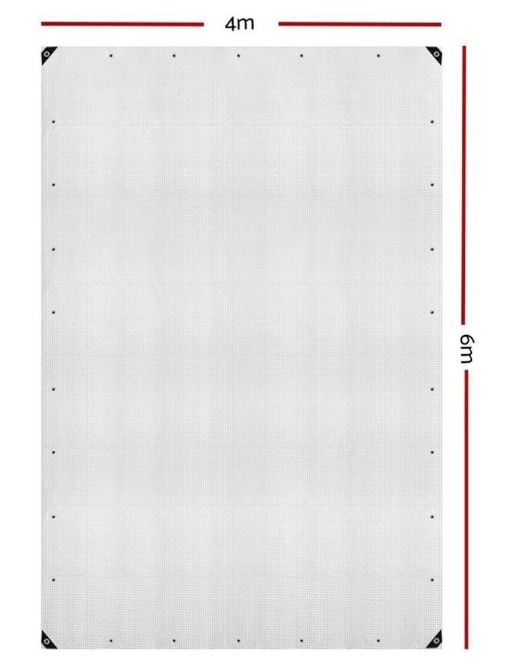 4x6m Heavy Duty Poly Tarps Tarpaulin Camping Cover UV Proof PE Clear image 2