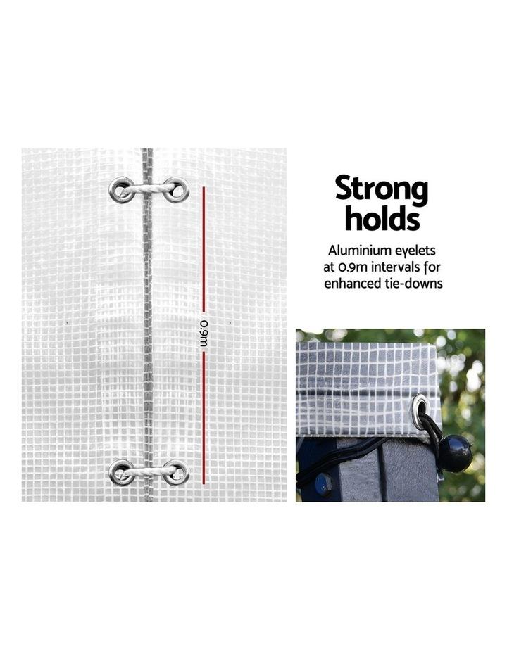 4x7m Heavy Duty Poly Tarps Tarpaulin Camping Cover UV Proof PE Clear image 4