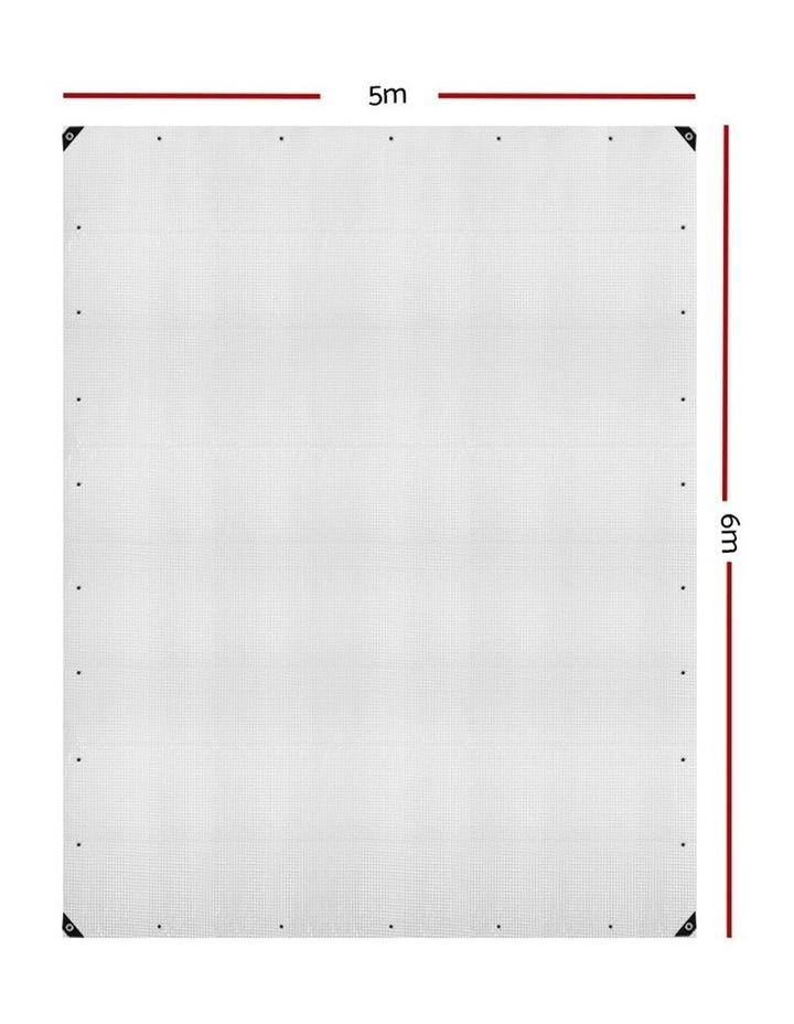 5x6m Heavy Duty Poly Tarps Tarpaulin Camping Cover UV Proof PE Clear image 2