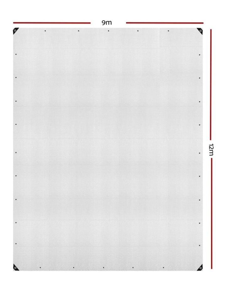 9x12m Heavy Duty Poly Tarps Tarpaulin Camping Cover UV Proof PE Clear image 2
