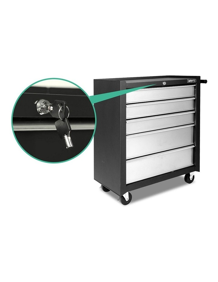 5 Drawer Mechanic Tool Box Storage Trolley image 3