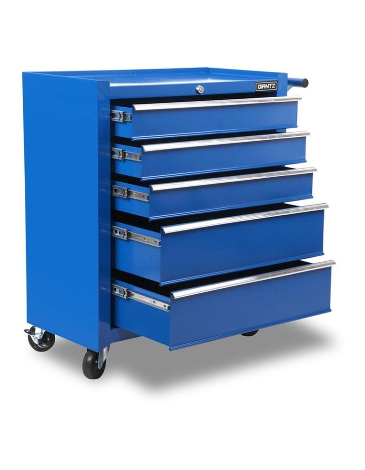 5 Drawer Mechanic Tool Box Storage Trolley - Blue image 1