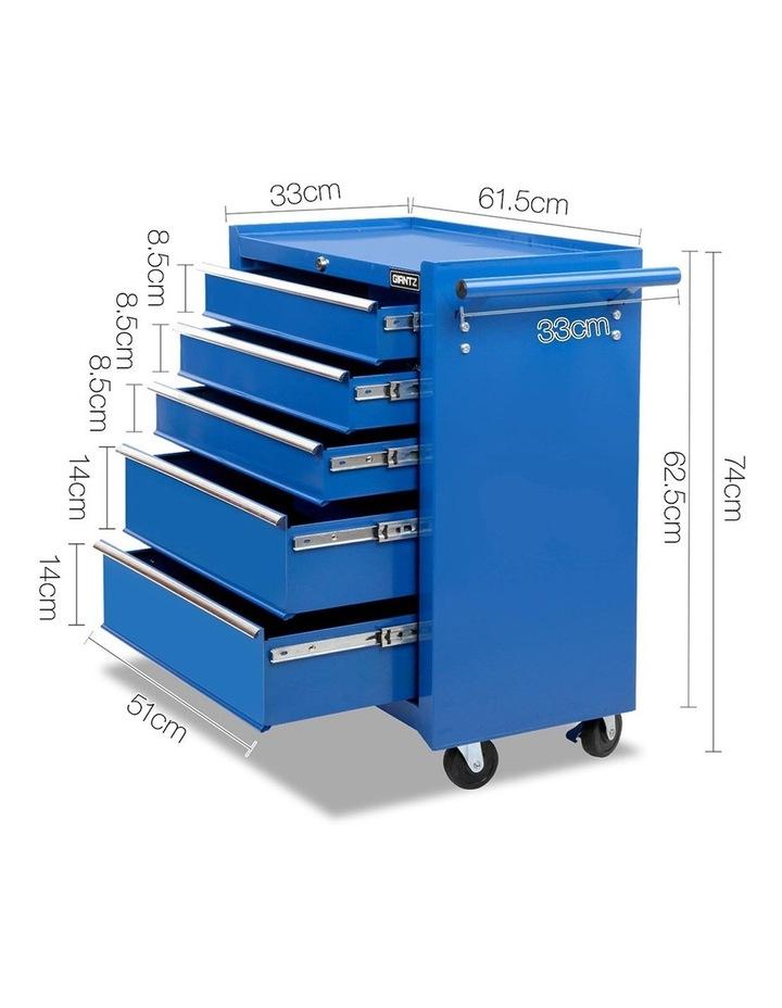 5 Drawer Mechanic Tool Box Storage Trolley - Blue image 2