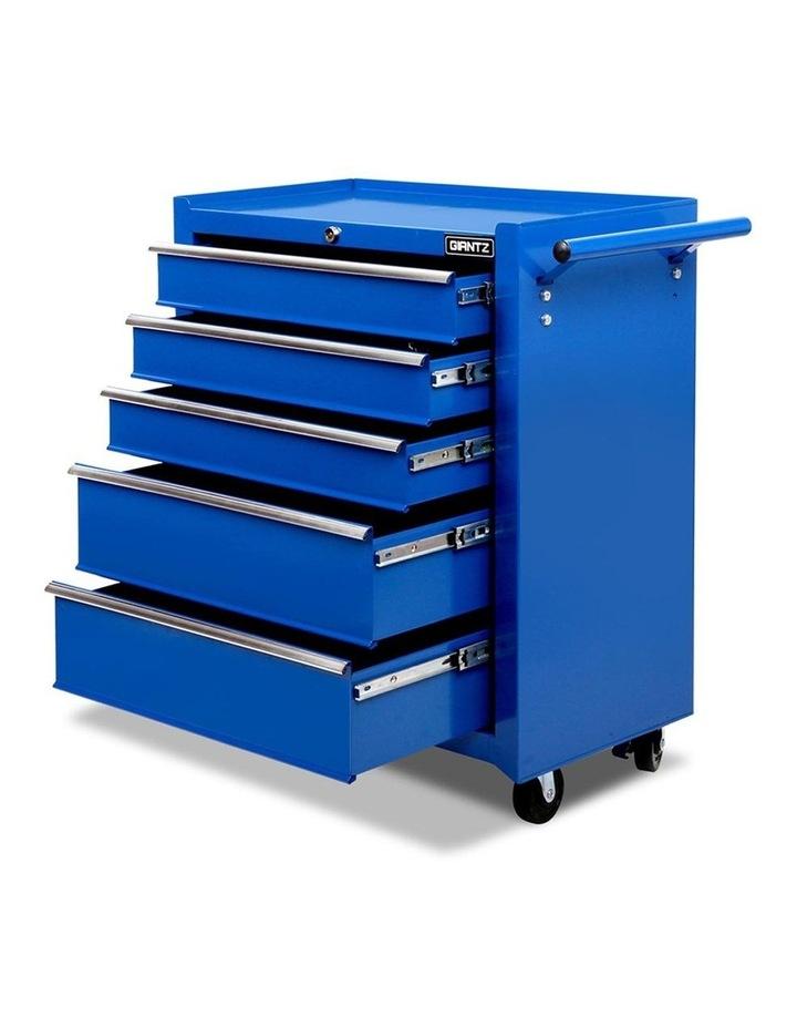 5 Drawer Mechanic Tool Box Storage Trolley - Blue image 3
