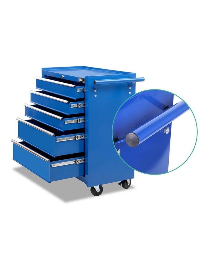 5 Drawer Mechanic Tool Box Storage Trolley - Blue image 5
