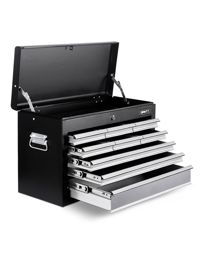 9 Drawer Mechanic Tool Box Storage - Black and Grey image 1