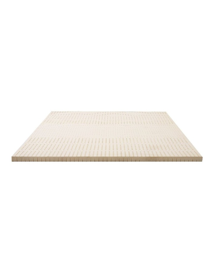 7 Zone Pure Natural Latex Mattress Topper Underlay Double 5cm image 1
