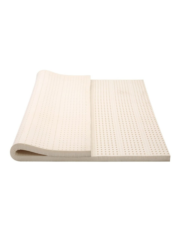 7 Zone Pure Natural Latex Mattress Topper Underlay Double 5cm image 3