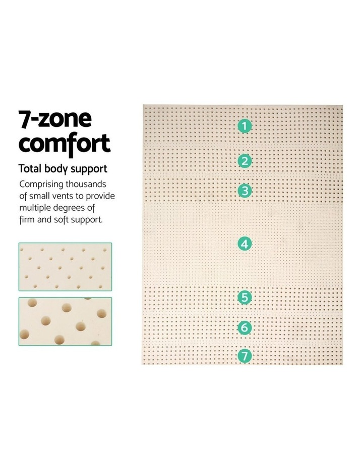 7 Zone Pure Natural Latex Mattress Topper Underlay Double 5cm image 4