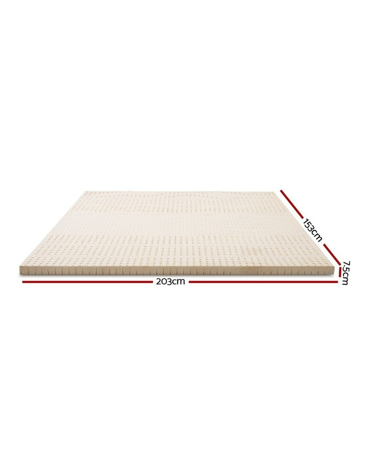 Giselle Bedding 7 Zone Latex Mattress Topper Underlay 7.5cm Queen Mat Pad Cover image 2