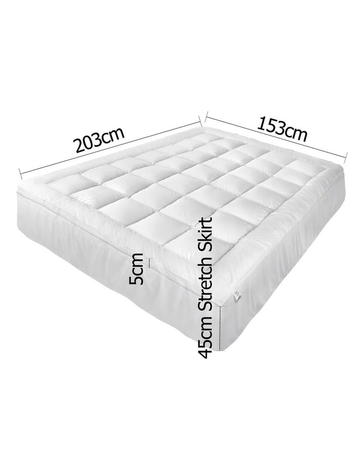 Giselle Bedding Queen Size Memory Resistant Mattress Topper image 2