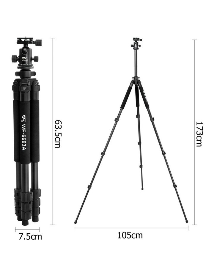 Weifeng 173cm Professional Ball Head Tripod image 2