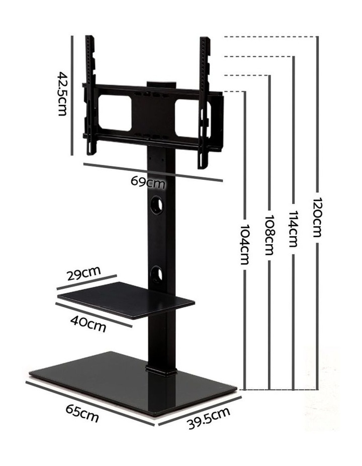 Floor TV Stand with Bracket Shelf Mount image 2