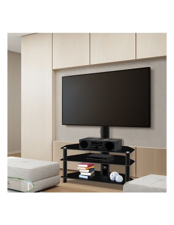 3 Tier Floor TV Stand with Bracket Shelf Mount image 3