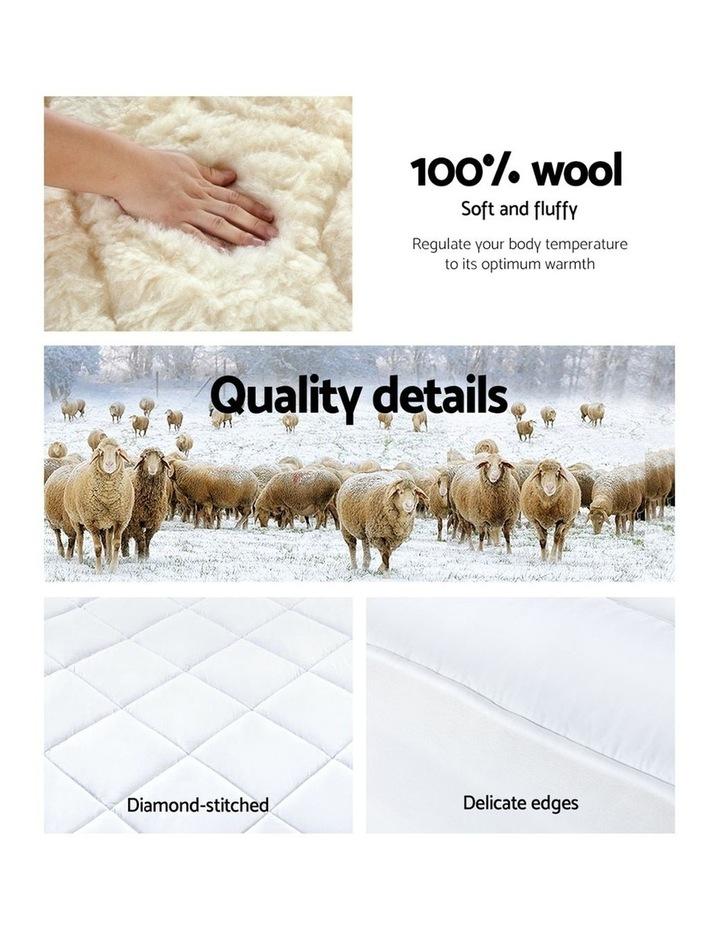 Giselle Bedding Reversible Wool Underlay Mattress Topper Queen image 5