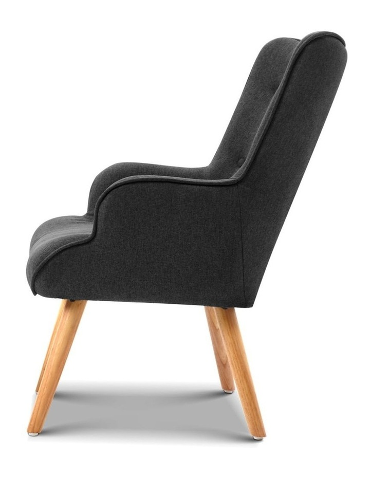 Artiss Accent Armchair and Ottoman - Charcoal image 5