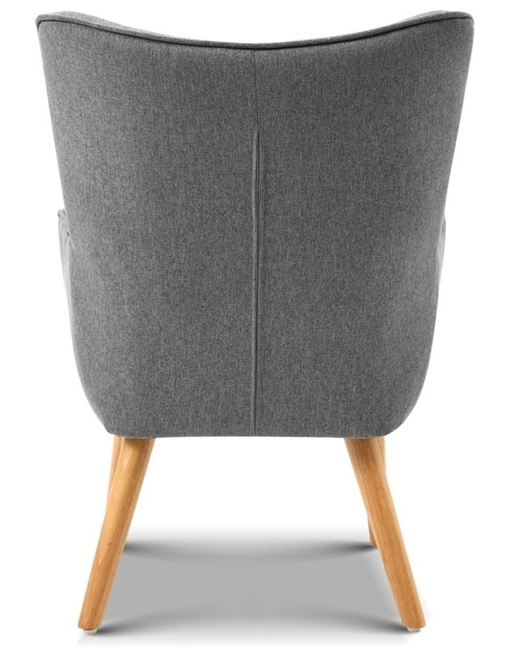 Artiss Armchair and Ottoman - Grey image 6