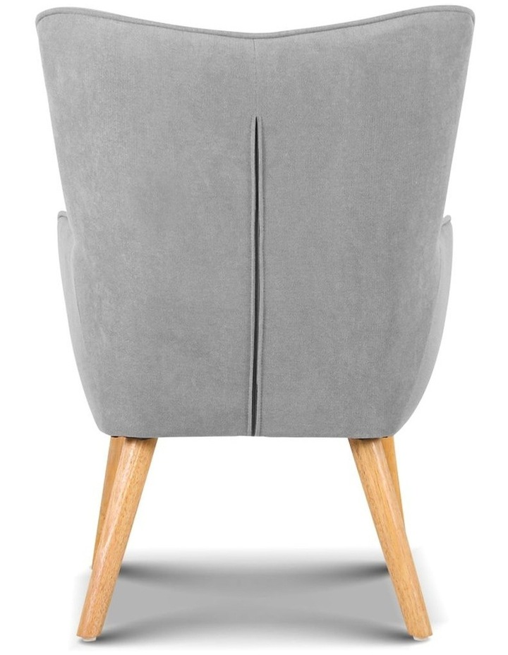 Artiss Armchair and Ottoman - Light Grey image 6