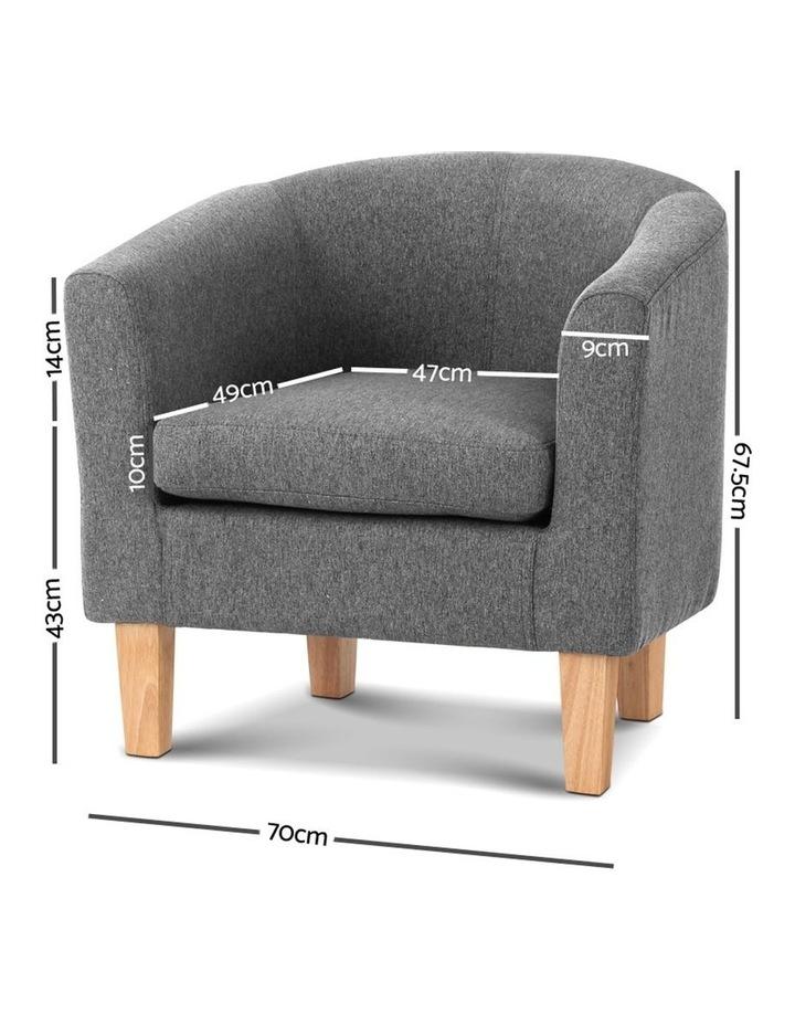 Abby Farbic Armchair - Grey image 2