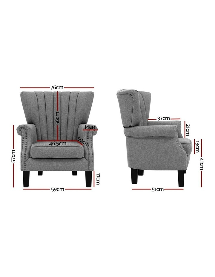 Upholstered Fabric Armchair image 3