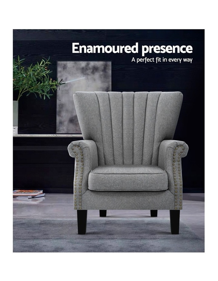 Upholstered Fabric Armchair image 4