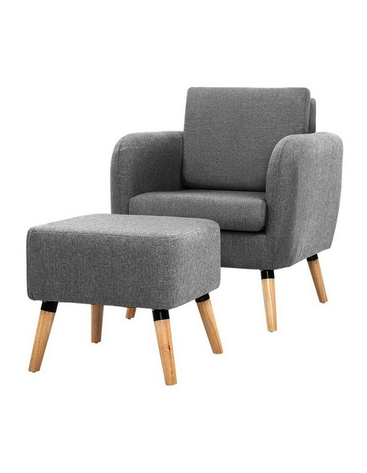 Lounge Chair Armchair with Ottoman image 1