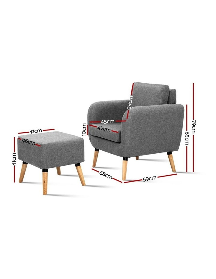 Lounge Chair Armchair with Ottoman image 2